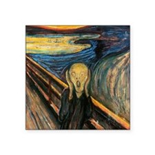 "scream Square Sticker 3"" x 3"""