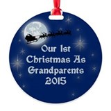 Grandparents first christmas Round Ornament