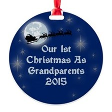 1St Christmas As Grandparents 2015 Ornament