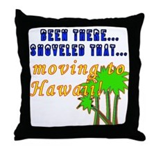 Too Much Snow! Throw Pillow