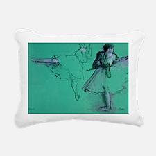 degas dancers at the bar Rectangular Canvas Pillow
