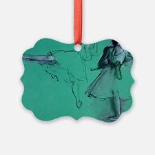 degas dancers at the barre tote b Ornament