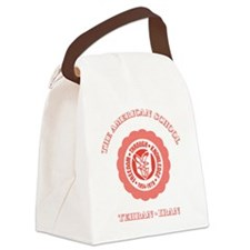 TASRedTeddyBear Canvas Lunch Bag