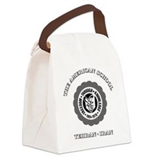 TASBlackTeddyBear Canvas Lunch Bag