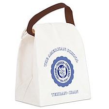 TASBlueTeddyBear Canvas Lunch Bag
