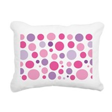 Pink and Purple Dots Rectangular Canvas Pillow