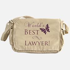 Butterfly_Lawyer Messenger Bag