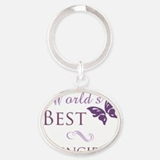 Butterfly_Principal Oval Keychain