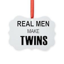 real men twins Ornament