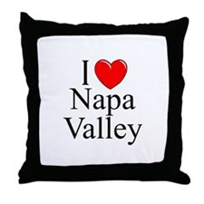 """I Love Napa Valley"" Throw Pillow"