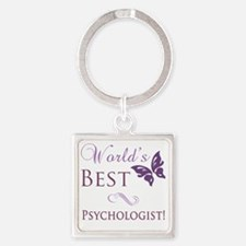 Butterfly_Psychologist Square Keychain