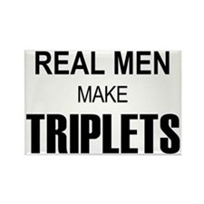real men triplets Rectangle Magnet