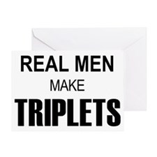 real men triplets Greeting Card