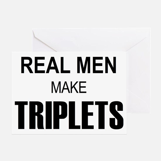 real men triplets Greeting Card
