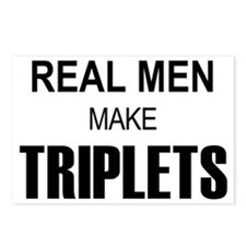 real men triplets Postcards (Package of 8)