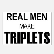 real men triplets Postcards (Package of 8)