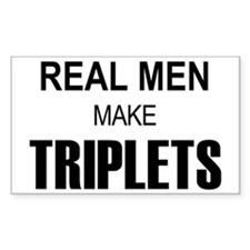 real men triplets Decal
