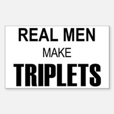 real men triplets Sticker (Rectangle)