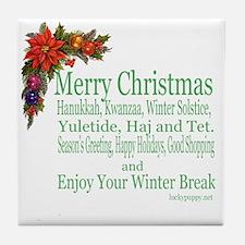 Merry_Christmas_PRETTY Tile Coaster