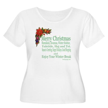 Merry_Christm Women's Plus Size Scoop Neck T-Shirt