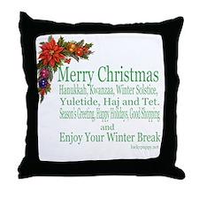 Merry_Christmas_PRETTY Throw Pillow