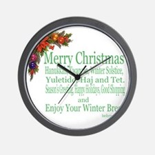 Merry_Christmas_PRETTY Wall Clock