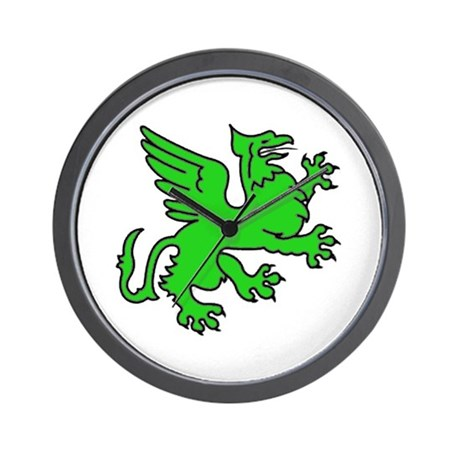 Green Griffin Wall Clock