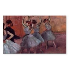 Degas dance teacher with dance Decal