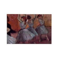 Degas dance teacher with dancers  Rectangle Magnet