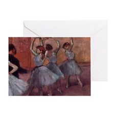 Degas dance teacher with dancers cop Greeting Card