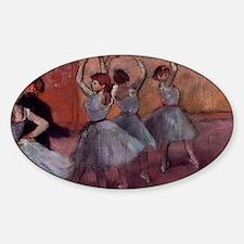 Degas dance teacher with dancers co Decal