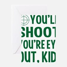 Christmas-Story-(green-text) Greeting Card