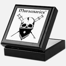 MursenariesBlackonWhitePNGforCP Keepsake Box