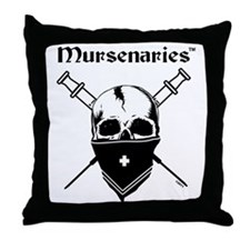 MursenariesBlackonWhitePNGforCP Throw Pillow