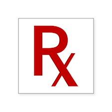 Red Rx Sticker