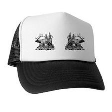 Elk and mule deer bw Trucker Hat