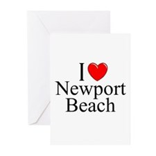 """""""I Love Newport Beach"""" Greeting Cards (Package of"""