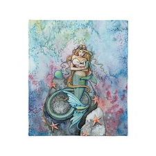 Love Eternal Mermaid Mother And Baby Throw Blanket
