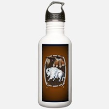 OvalJewel  White Buffa Water Bottle