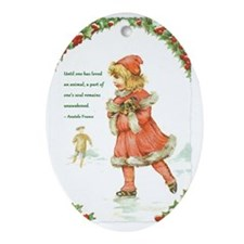 PuppyMessage Oval Ornament