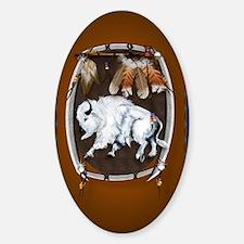 OvalJewel  White Buffalo Shield bro Decal