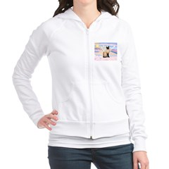 Siamese Cat Angel Fitted Hoodie