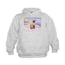 Siamese Cat Angel Hoodie