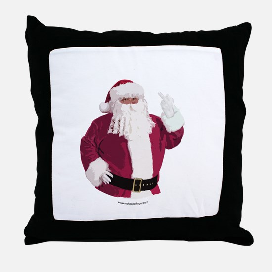 merry-xmas-dark Throw Pillow