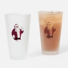 merry-xmas-dark Drinking Glass