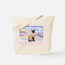 Siamese Cat Angel Tote Bag
