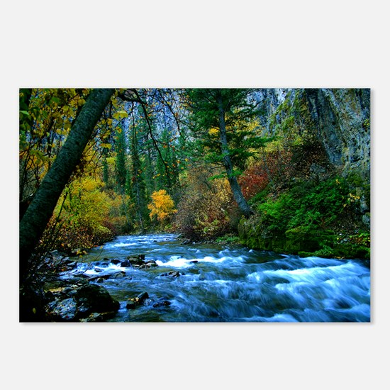 logan canyon river Postcards (Package of 8)
