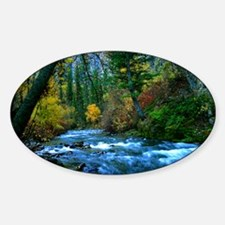 logan canyon river Sticker (Oval)