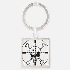 Headshot Square Keychain