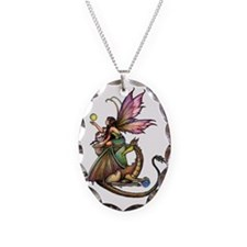 Dragons Orbs transparent backg Necklace Oval Charm